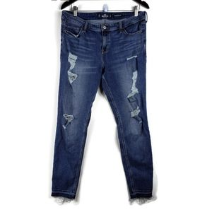 HOLLISTER mid rize stretchy skinny jeans size 15